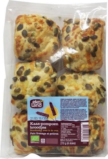 Ekoland Kaas pompoenbroodjes afbeelding