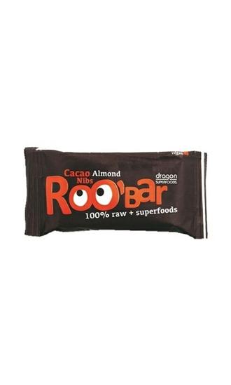 Roo Bar Cacao nibs & almond 100% afbeelding