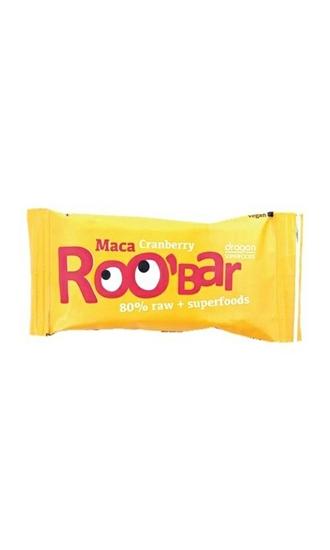 Roo Bar Maca & cranberry 80% raw afbeelding
