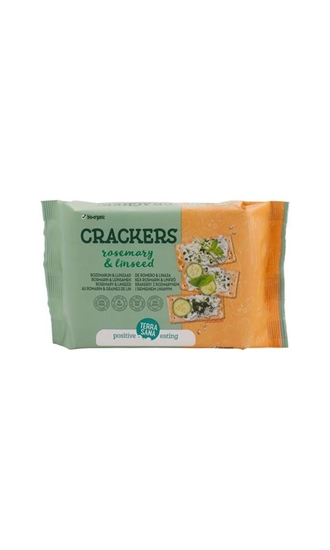 TerraSana Crackers lijnzaad & rozemarijn afbeelding