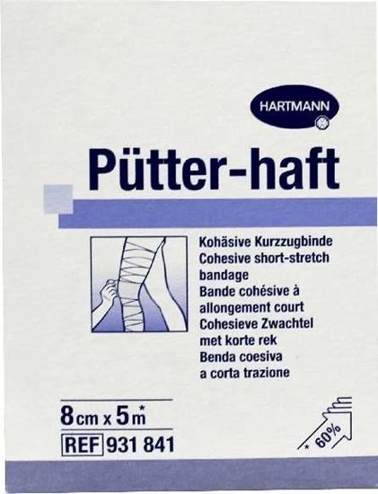 Hartmann Putter haft drukverband 8 cm x 5 m afbeelding