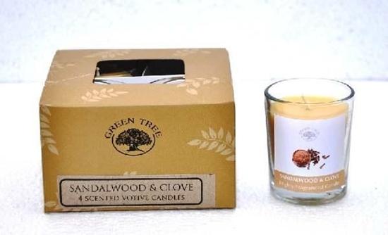 Green Tree Geurkaars sandelwood & clove votive afbeelding