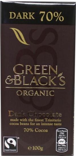 Green & Black Pure chocolade 70% afbeelding
