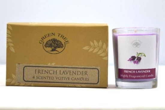 Green Tree Geurkaars french lavender votives afbeelding