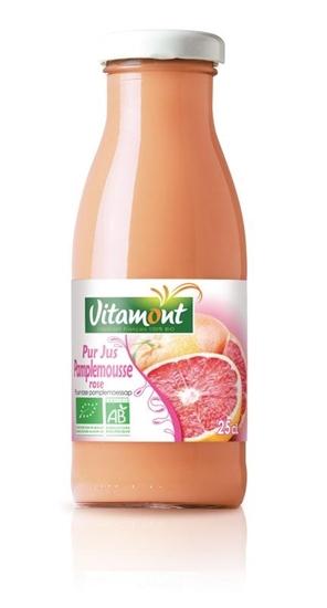 Vitamont Pure roze grapefruitsap mini bio afbeelding