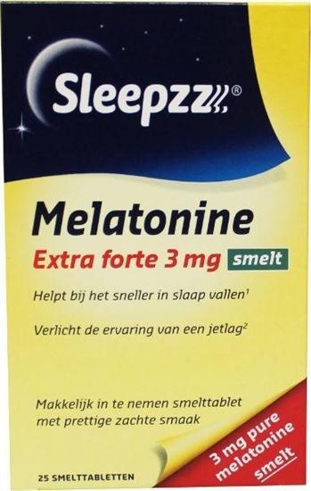 Sleepzz Melatonine extra forte 3 mg smelt afbeelding