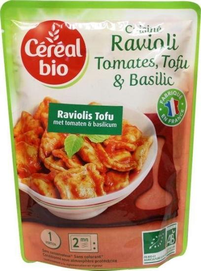Cereal Ravioli tofu tomaat basilicum afbeelding
