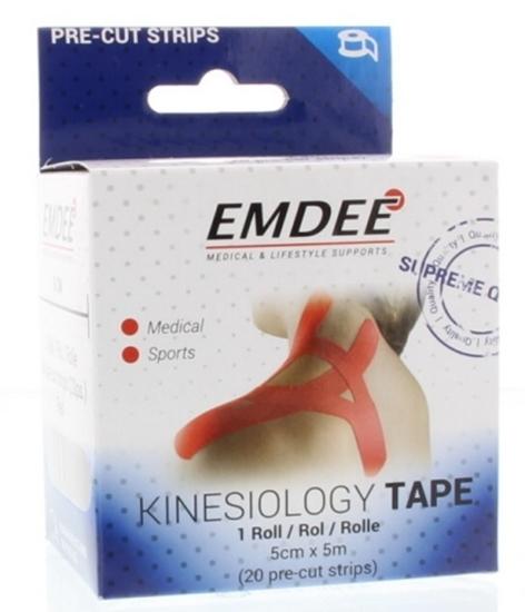 Emdee Kinesio tape rood afbeelding