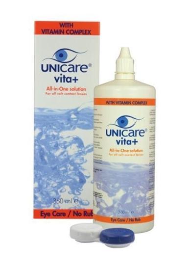 Unicare Vita + alles in een vloeistof zachte lens afbeelding