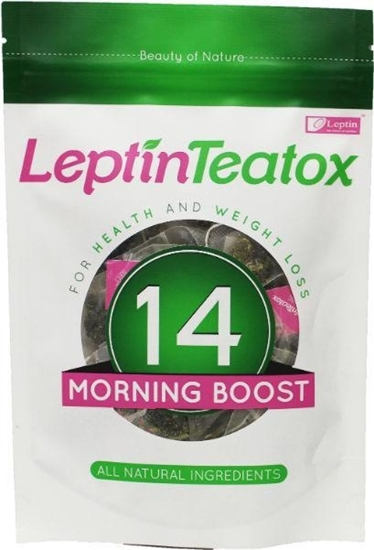 Leptin Teatox Detox morning boost thee 2.5 gram afbeelding