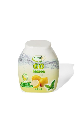 Stevija Stevia limonadesiroop go lemon afbeelding