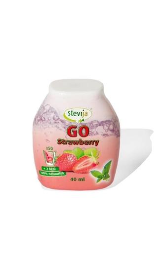 Stevija Stevia limonadesiroop go strawberry afbeelding
