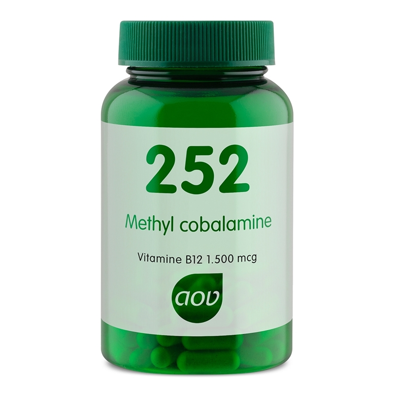 AOV Voedingssupplementen 252 Methyl cobalamine B12 afbeelding