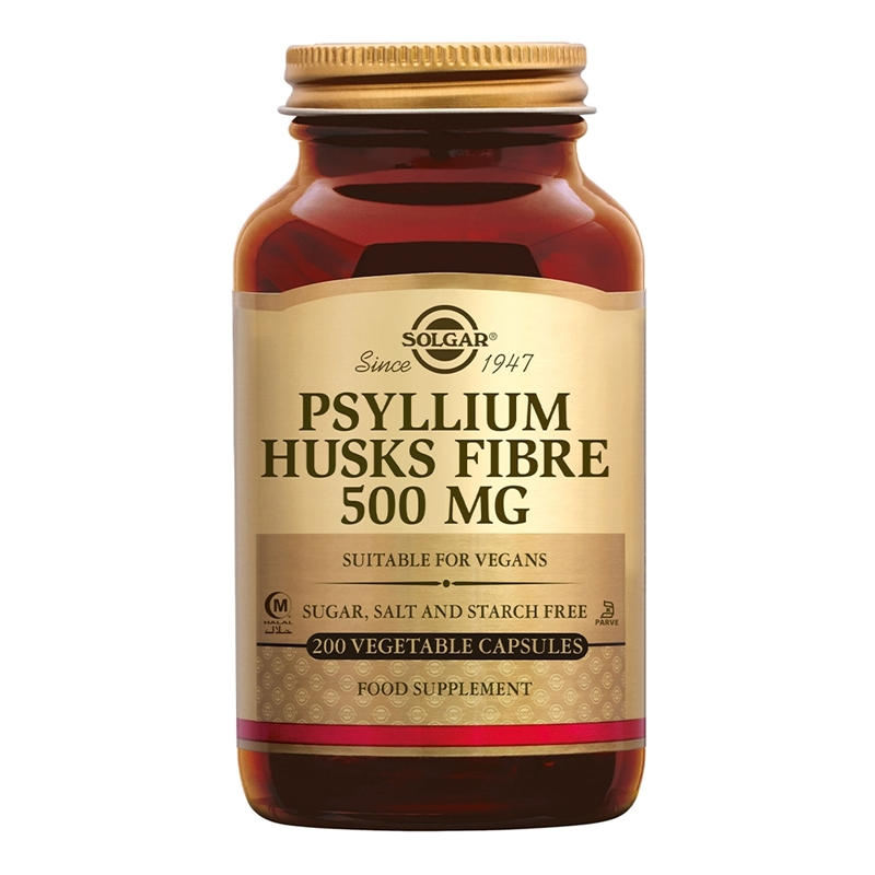 Solgar Vitamins Psyllium Husks 500 mg (vlozaad vezels, in capsules) afbeelding