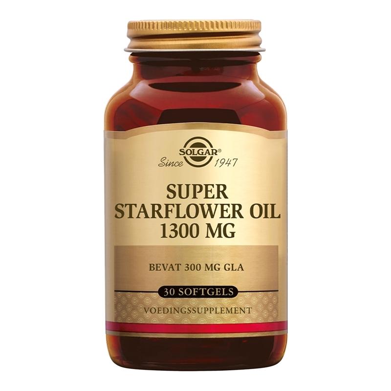 Solgar Vitamins Super Starflower Oil 1300 mg (borageolie, 300 mg GLA) afbeelding