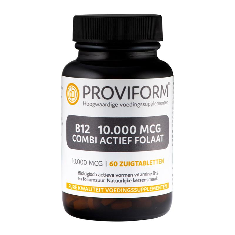 Proviform Vitamine B12 10.000 mcg combi actief folaat afbeelding